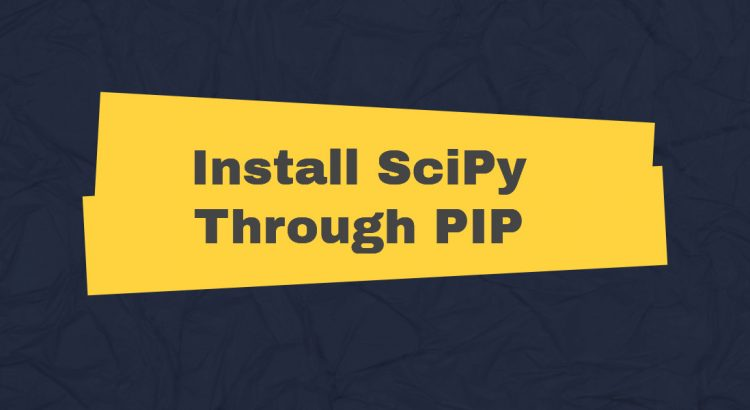 install scipy through pip