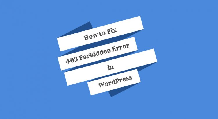 fix 403 error wordpress
