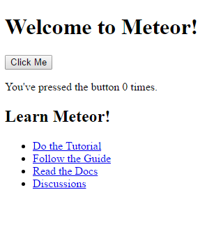meteor welcome