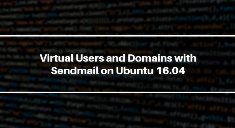 virtual users and domains on sendmail