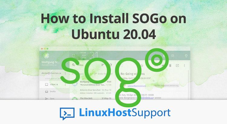 how to install sogo on ubuntu 20.04
